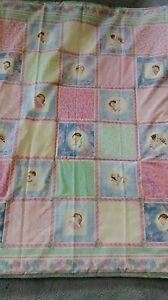 Baby Quilt with squares of babys of different ethnicitys handmade and new