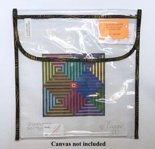 "Trish Vine Designs needlework 12/"" x 12/"" clear craft Project Keeper Inca Trim"