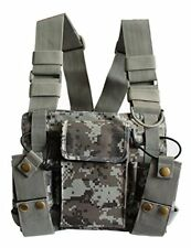 Carry Case Chest Pocket Scout Radio Strap Harness Rig Pack Holster Walki Talki