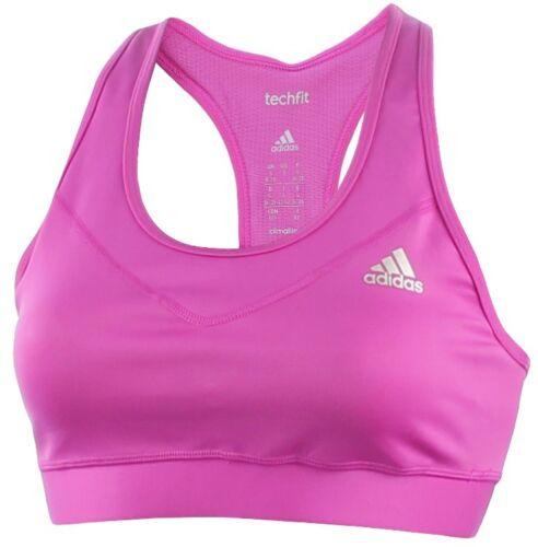 Gym Training Fitness Running New Adidas Sports Bra Top Purple Ladies Womens