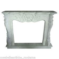 Camino Classico Caminetto in Marmo Bianco Carrara Classic Marble Fireplace 150CM