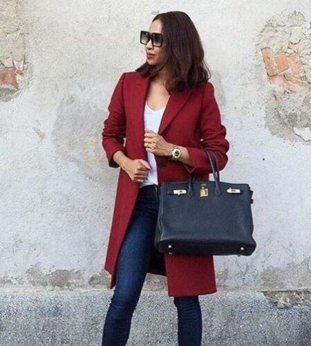 M Nouveaux masculine épuisés blogueurs Manteau Bordeaux laine en 7949 rouge Zara 744 L vierge YBn70q1f