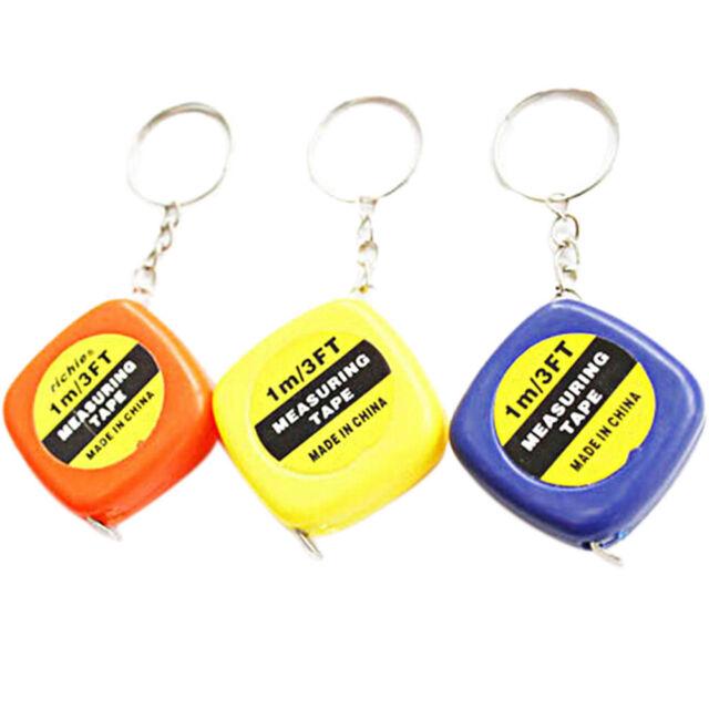 1pcs Easy Retractable Ruler Tape Measure mini Portable Pull Ruler Keychain 9C
