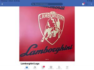 Lamborghini Badge Emblem Metal Sign
