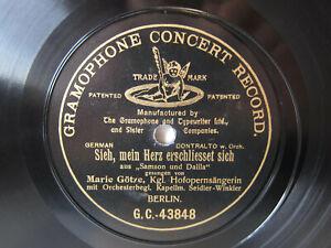 Details about 78rpm MARIE GOETZE sings SAMSON & DALILA - German 1st Stamper  G&T 1906