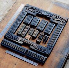 Letterpress Border Wooden Printing Blocks Ornaments Art Nouveau Vintage Wood Old
