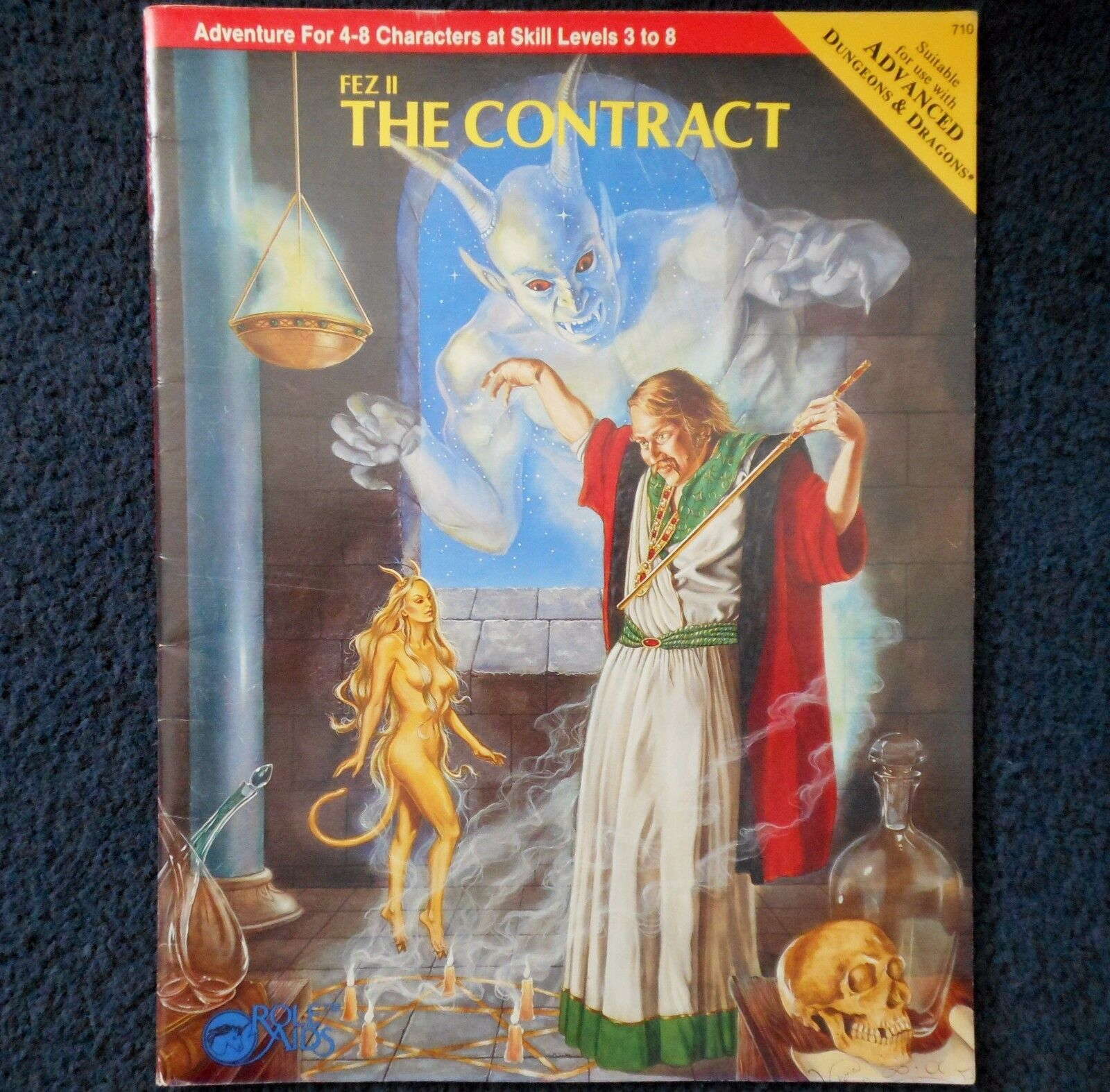 Fez II The Contract Advanced Dungeons & Dragons Role Aids Adventure Module AD&D