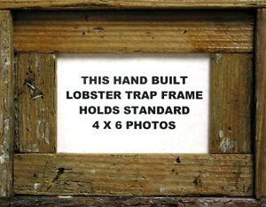 4-x-6-Lobster-Trap-Dark-Wood-Horizontal-Picture-Frame-Nautical-Art-Print