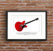 Eric Clapton's Gibson ES-335 Cream Guitar Limited Edition Fine Art Print A3 size