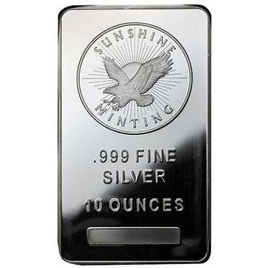 10 oz Sunshine Silver Bar