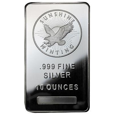 10 oz Sunshine Silver Bar (New, MintMark SI)