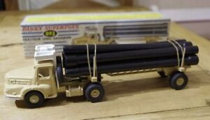 Frances-Dinky-Tracteur-Unic-Saharien-893-Beige-Pipe-Tractor-Camion-Camion-Supertoys