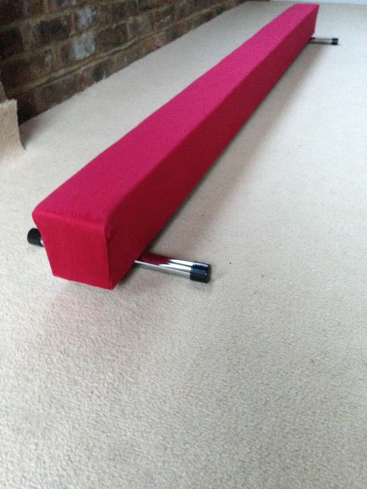 Finest quality gymnastics gym balance beam  7FT long red reduced bargain
