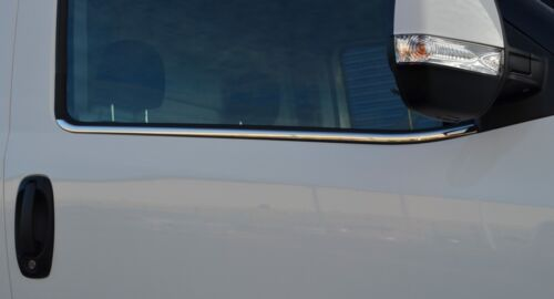 Chrome Side Door Window Sill Trim Set Covers To Fit Fiat Doblo 2010+