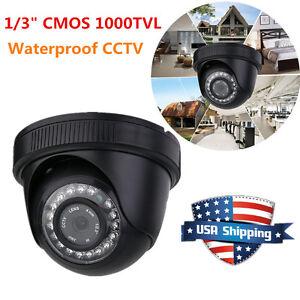"Waterproof CCTV Surveillance Camera 1/3"" CMOS 1000TVL HD IR Night Vision JND-538"