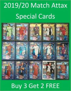 2019/20 Match Attax UEFA - Shiny Special Cards and Team Sets - Buy 3 Get 2 FREE