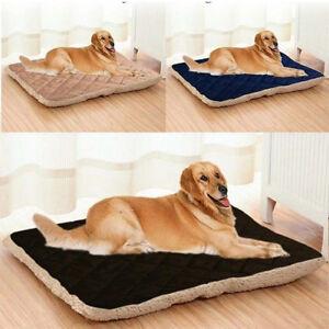 Large-Dog-Bed-Puppy-Pet-Cat-Cushion-Pillow-Blanket-Mattress-Warm-Soft-Mat-Kennel