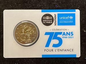 2 Euro Francia 2021 75 Anni UNICEF - coincard