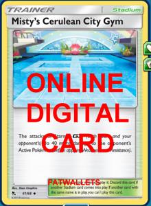 4X Misty/'s Cerulean City Gym 61//68 Hidden Fates Pokemon TCG Online Digital Card