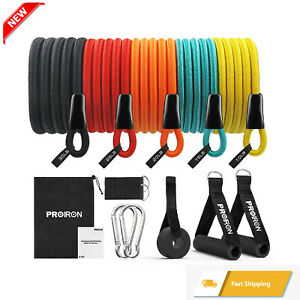 PROIRON Resistance Bands Set Fitness 14 Pieces with Handles, Door Anchor, Ankle