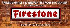 FIRESTONE TYRES WATERPROOF 550GSM GRADE PVC BANNER.GARAGE,WORKSHOP BANNER