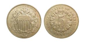 1866-1883 Shield Nickel - The First Nickel