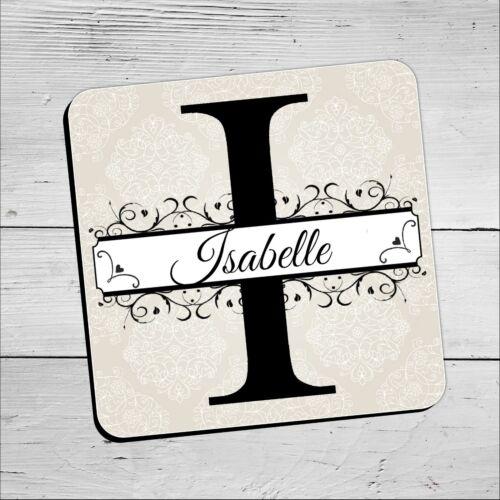 Personnalisé Alphabet Nom Coasters ~ anniversaire cadeau de Noël N31 Boissons Mat