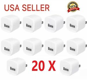 20x-1A-USB-Power-Adapter-AC-Home-Wall-Charger-US-Plug-FOR-iPhone-LG-Samsung
