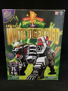 Bandai Legacy White Tigerzord Figure Complete Opened 2015 MMPR Power Rangers