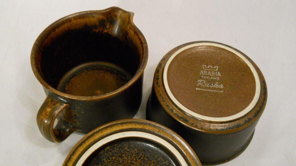 Keramik, fade kop tallerken skål , Arabia stel ruska