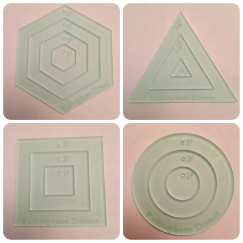 Círculo Y Hexagonal Triángulo Plantillas de acolchar Mini-Cuadrado