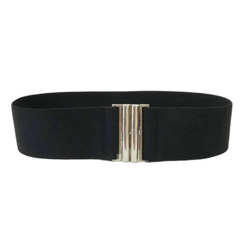 Women Wide Elastic Dress Belt Fashion Buckle Waist Belts Stretch Waistband Gift