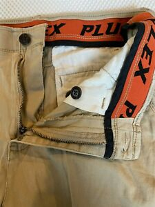 Plugg-Flex-29-x-9-034-Khaki-Flex-Cotton-Casual-Chino-Shorts