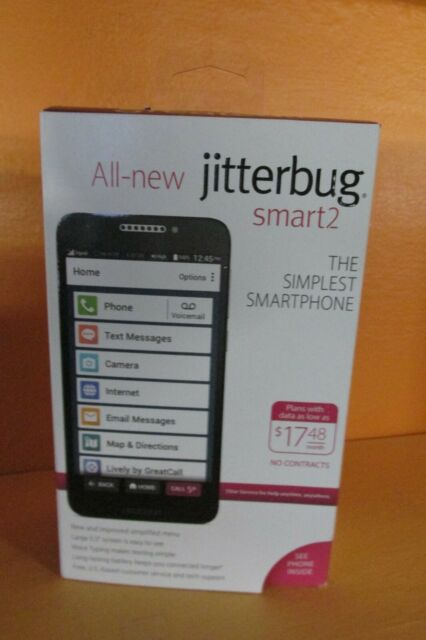 NEW Greatcall Jitterbug Smart 2 Simplest Smartphone for Seniors FREE Shipping!