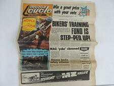 UK Motor Cycle Newspaper October 1977 Honda MX Motocross Barry Sheene L1171