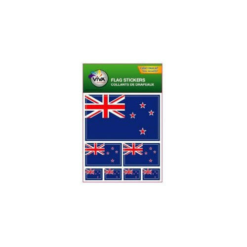 NEW ZEALAND , SET OF 7 COUNTRY FLAG VINYL CAR STICKERS , 3