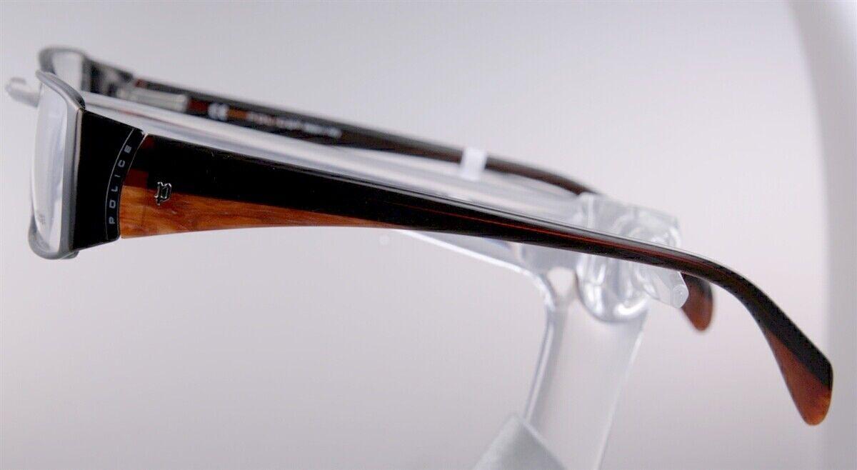 POLICE V8376 Brille Brillengestell Braun Damen Herren Sportlich Händler NEU