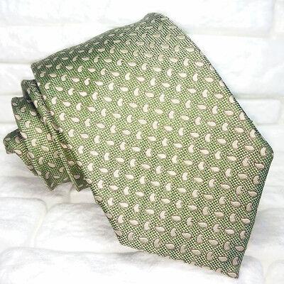 Cravatta Classica Uomo Verde Jacquard 100% Seta Made In Italy Rp€ 36 8 Cm Sconto Complessivo Della Vendita 50-70%