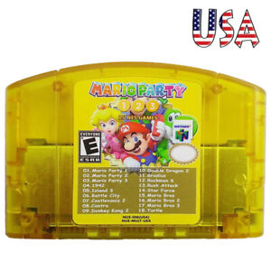 Mario-Party-1-2-3-Nintendo-64-N64-18-in-1-Game-Card-15-Classic-NES-US-Edition