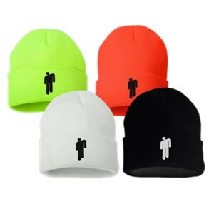 ebaa9621 Billie Eilish Beanie stickman Women Men knit cap hat - Multiple ...