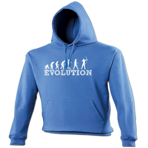 Evolution Archer HOODIE hood birthday archery bow arrow target funny gift