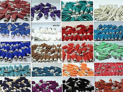 10pc jewerlly making craft DIY Artificial Leather Velvet Terylene Tassel Pendant
