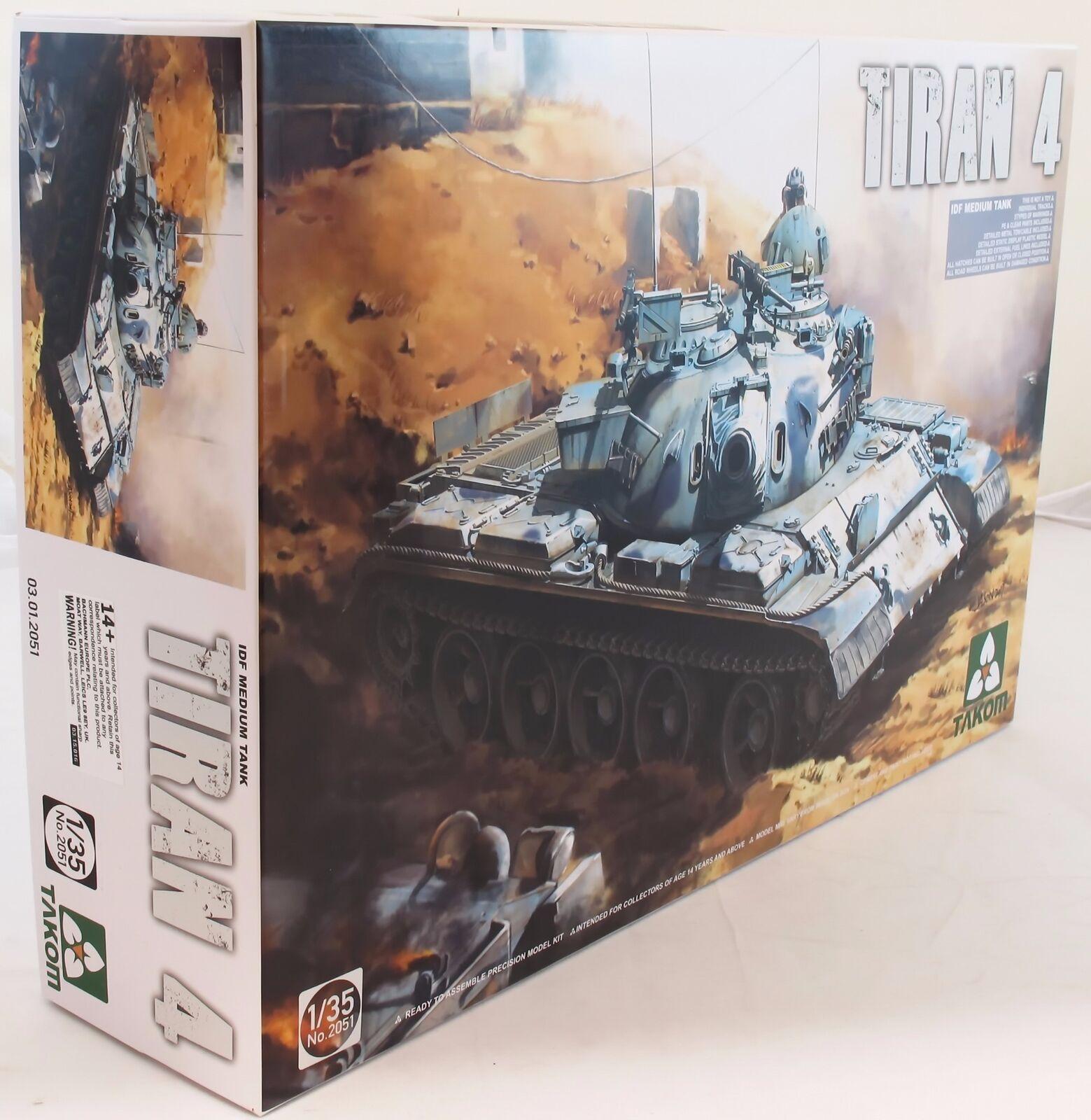 Takom 1 35 02051 Tiran-4 IDF Medium Tank Model Military Kit