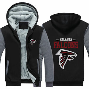 huge selection of 97b40 fbdf0 Details about New Atlanta Falcons Thicken Hoodies Football Winter Coat Warm  Jacket Sweatshirt