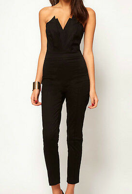 sexy jumpsuit with Pleated Bust Origami Detail overalls LC6211 women fashion