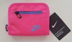 Nike-Heritage-Doppelt-Gefaltete-Reissverschluss-Klein-Etui-Pink-University-Blau