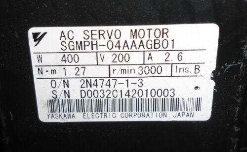 YASKAWA 400W AC SERVO MOTOR SGMPH-04AAAGB01 HD GEARHEAD CP-25A-11-F002B-SP **WKS