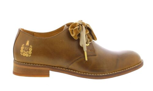 Fly London NEW Cristina Rodrigues Dwell 04 camel tan leather oxford shoes 3-9