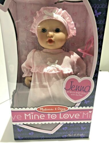 Jenna baby doll toy MINIERA ad amare Soft Body pacificer Melissa /& Doug Compleanno