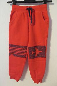 TOPOLINO-coole-Jogginghose-Gr-116-rot-Jungen-Sport-Kleidung-Hose-Sporthose